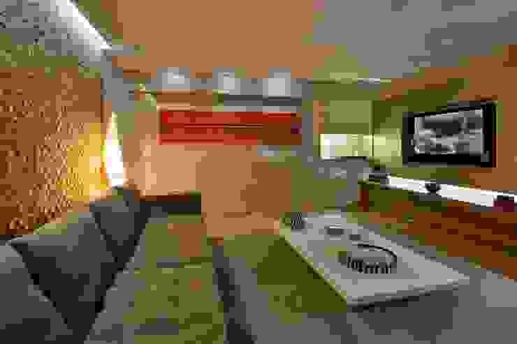 Apartamento P.P.N.R Salas multimídia modernas por Bellini Arquitetura e Design Moderno