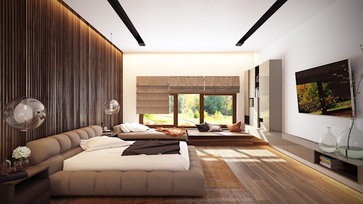 Minimalist bedroom by Artichok Design Minimalist Wood Wood effect