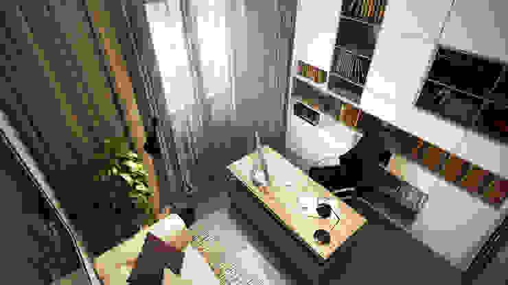 Загородный дом <q>Natürliche</q> Рабочий кабинет в стиле минимализм от Artichok Design Минимализм Дерево Эффект древесины