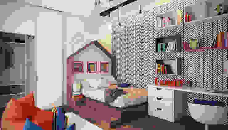 Dormitorios infantiles de estilo minimalista de Artichok Design Minimalista Madera Acabado en madera