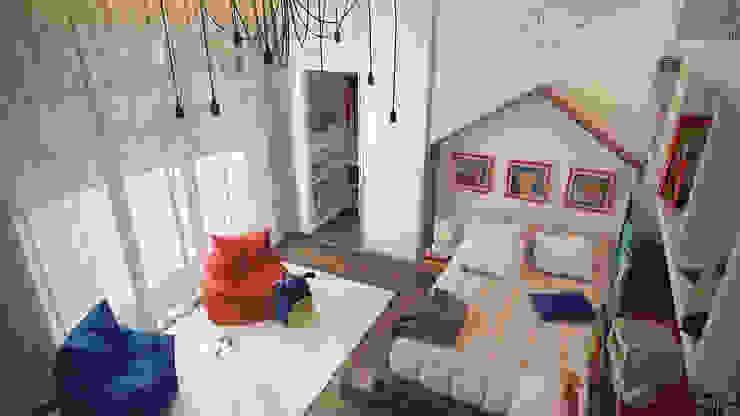 Загородный дом <q>Natürliche</q> Детская комнатa в стиле минимализм от Artichok Design Минимализм Дерево Эффект древесины