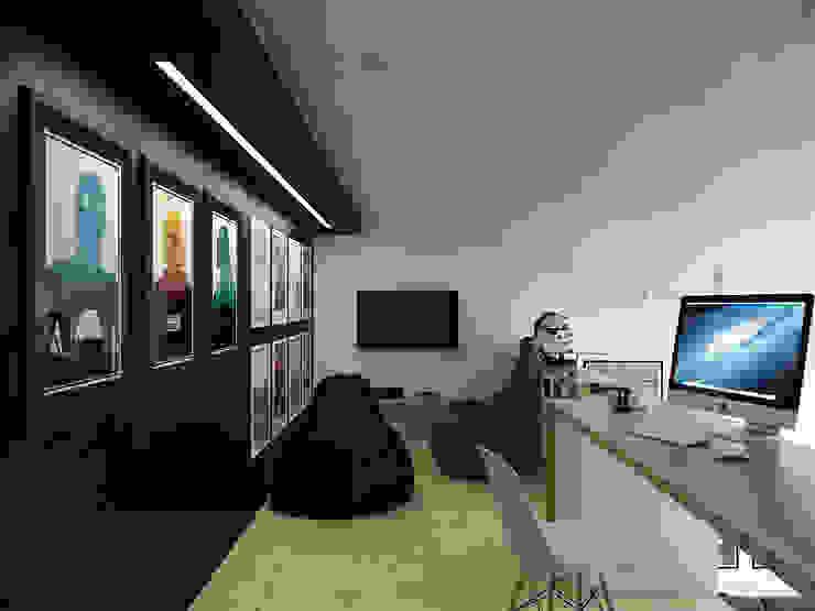 Скандинавский стиль Рабочий кабинет в скандинавском стиле от Хороший план Скандинавский