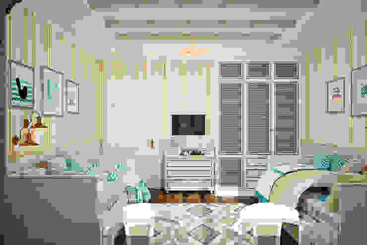 Детская для двух детей - уютный интерьер в британском стиле Детская комната в стиле модерн от Студия дизайна Interior Design IDEAS Модерн