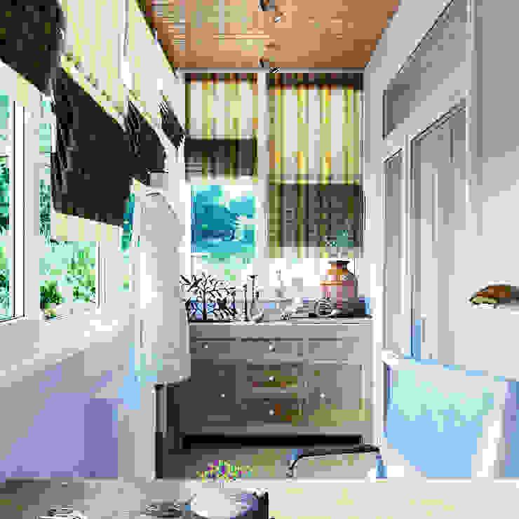 Элегантный интерьер для гостиной с балконом Балкон и терраса в стиле модерн от Студия дизайна Interior Design IDEAS Модерн