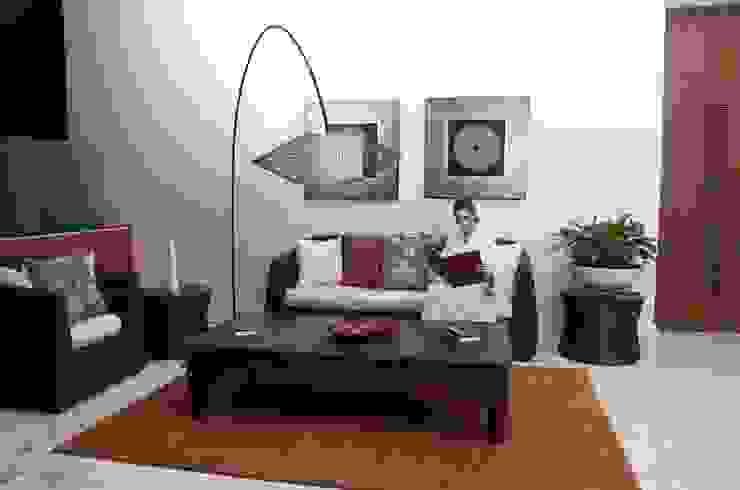 Spa Grand Velas Riviera Maya / Sala de estar. de MC Design Ecléctico Lana Naranja