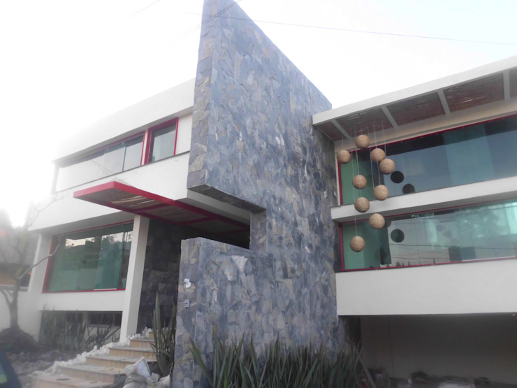fachada Casas eclécticas de bello diseño! Ecléctico
