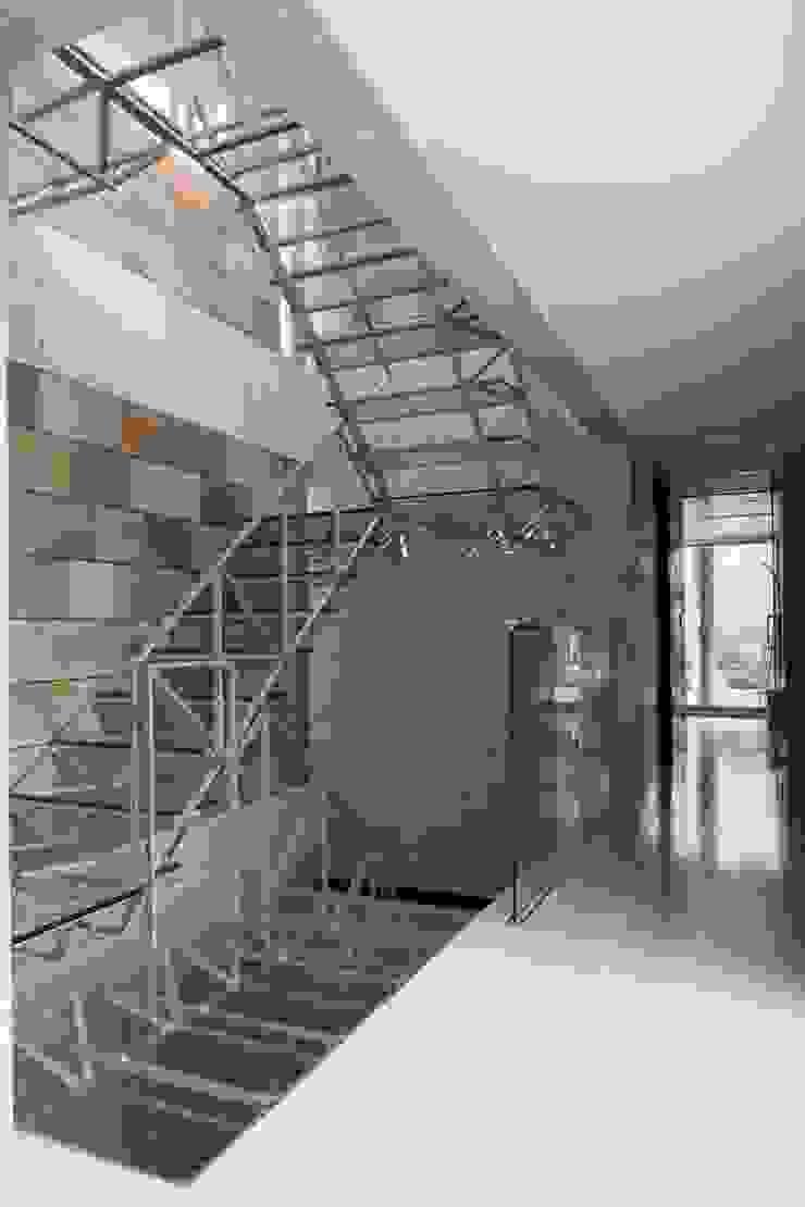 二段テラスの家 オリジナルスタイルの 玄関&廊下&階段 の AMO設計事務所 オリジナル