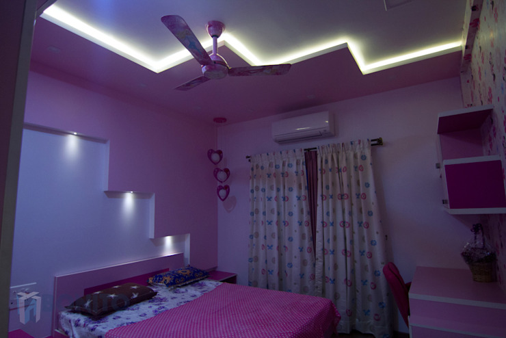 Pink theme kids bedroom designs Asian style bedroom by homify Asian