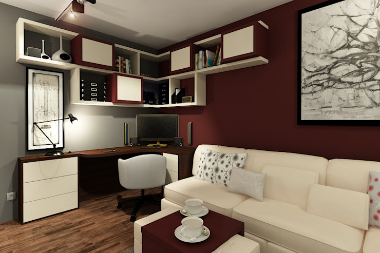 Квартира в Красногорске Гостиная в стиле лофт от Алёна Демшинова Лофт МДФ