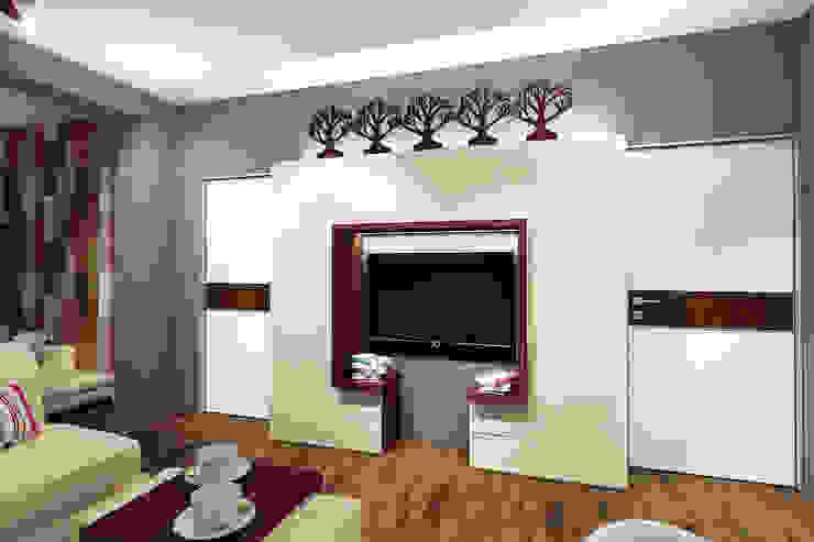 Квартира в Красногорске Гостиная в стиле лофт от Алёна Демшинова Лофт Известняк