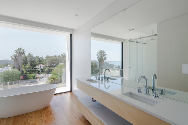 Baños modernos de JPS Atelier - Arquitectura, Design e Engenharia Moderno