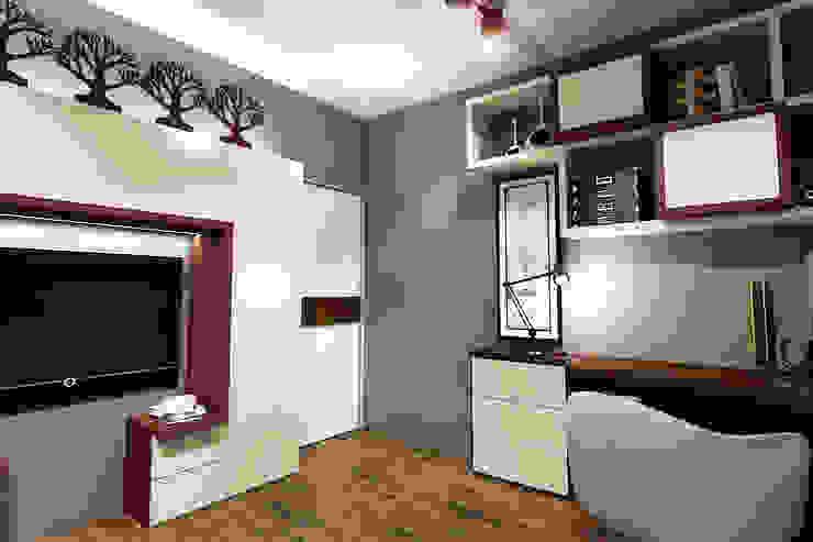 Квартира в Красногорске Гостиная в стиле лофт от Алёна Демшинова Лофт ДСП