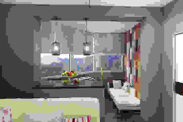 Квартира в Красногорске Балкон и веранда в стиле лофт от Алёна Демшинова Лофт Известняк
