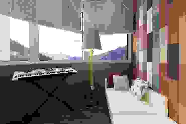 Квартира в Красногорске Балкон и веранда в стиле лофт от Алёна Демшинова Лофт Лен / Полотно Розовый