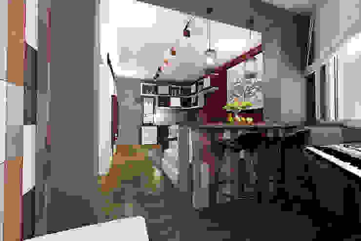 Квартира в Красногорске Балкон и веранда в стиле лофт от Алёна Демшинова Лофт Изделия из древесины Прозрачный
