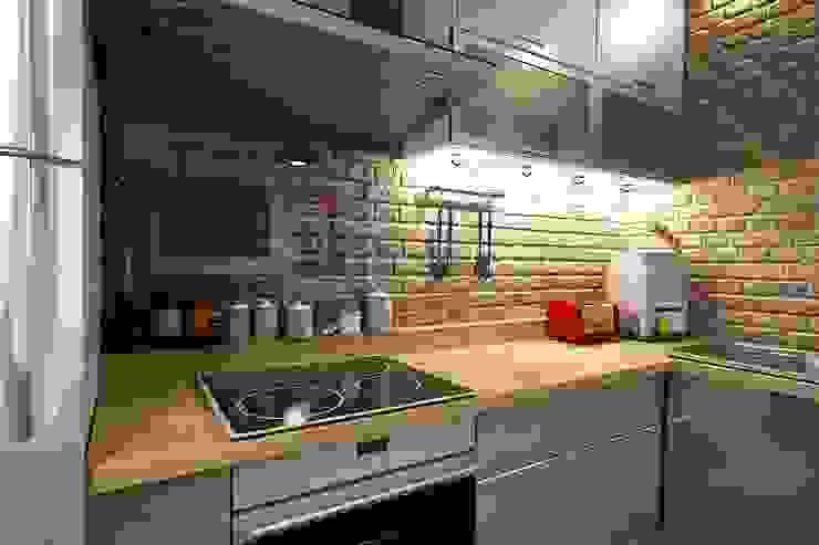 Квартира в Красногорске Кухня в стиле лофт от Алёна Демшинова Лофт Металл