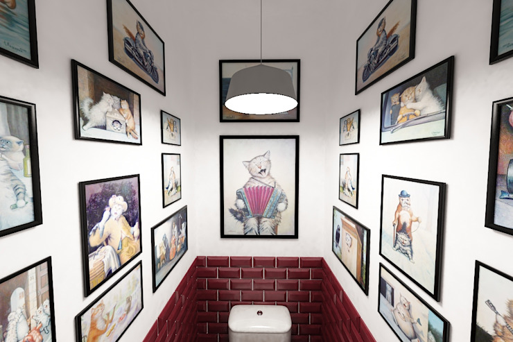 Квартира в Красногорске Ванная в стиле лофт от Алёна Демшинова Лофт Глина