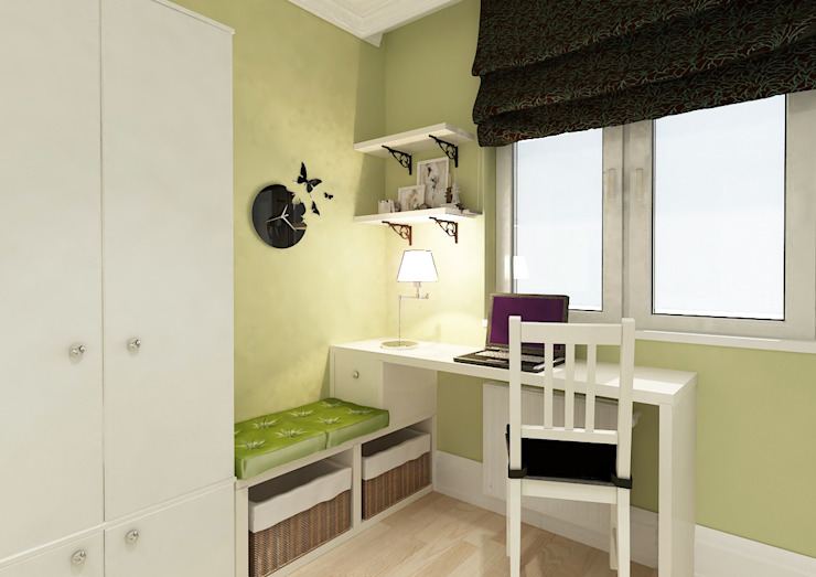 Квартира в Красногорске Спальня в стиле кантри от Алёна Демшинова Кантри Дерево Эффект древесины