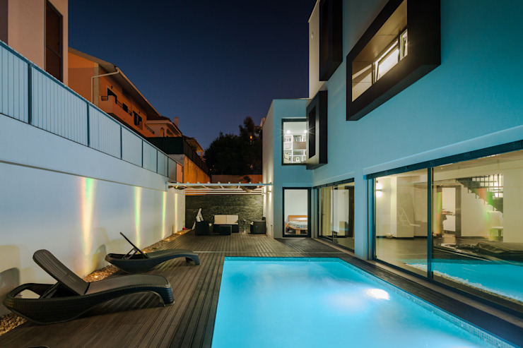 Piscinas de estilo  por JPS Atelier - Arquitectura, Design e Engenharia, Moderno