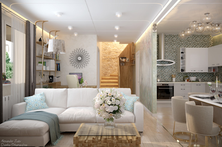 Modern living room by Студия интерьерного дизайна happy.design Modern