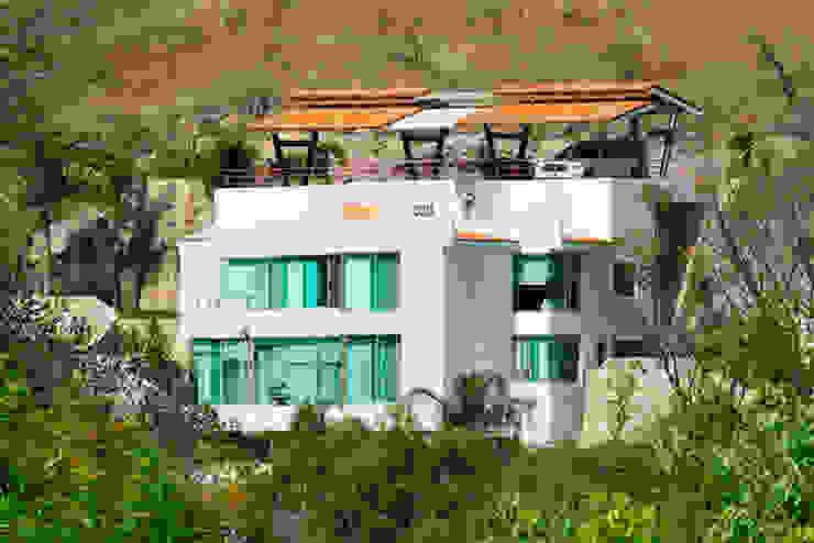 la fachada Excelencia en Diseño Casas modernas Ladrillos Blanco