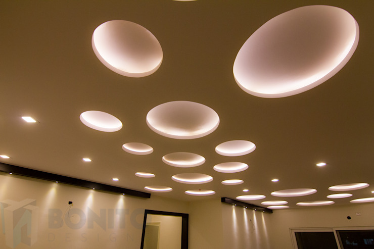 Living false ceiling Asian style walls & floors by homify Asian
