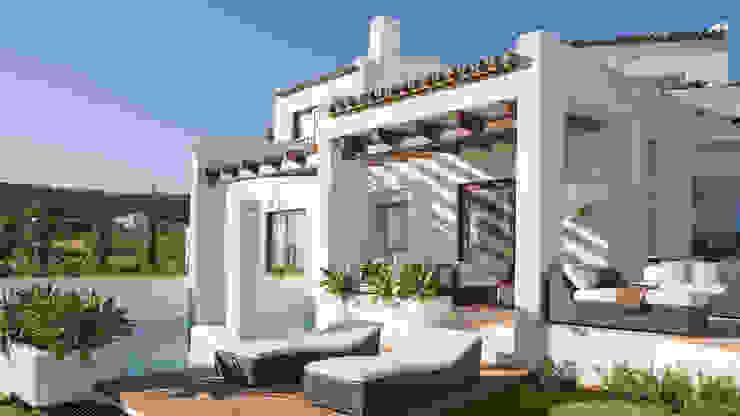 Терраса в средиземноморском стиле от Alejandro Giménez Architects Средиземноморский