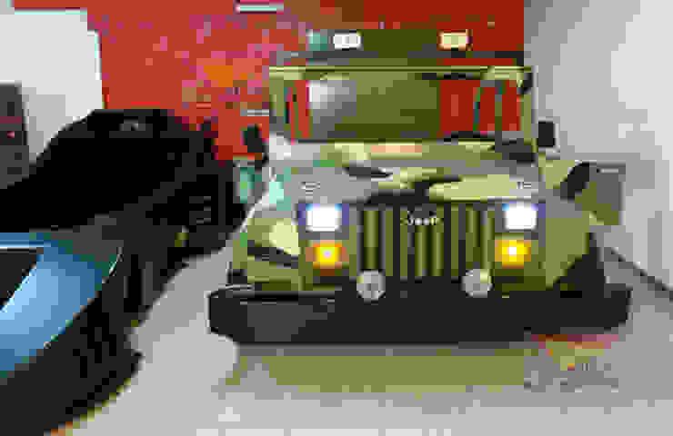 Fabulosa cama estilo Jeep de Kids Wolrd- Recamaras Literas y Muebles para niños Moderno Derivados de madera Transparente