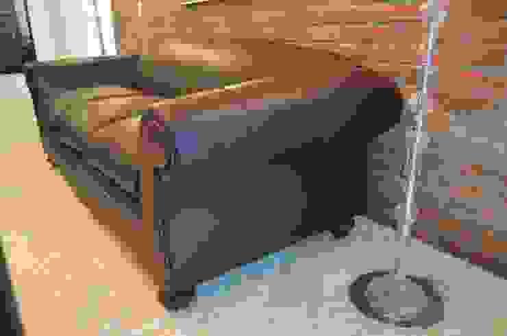 Sofa GT de CRHISTIANO Rústico Cuero Gris