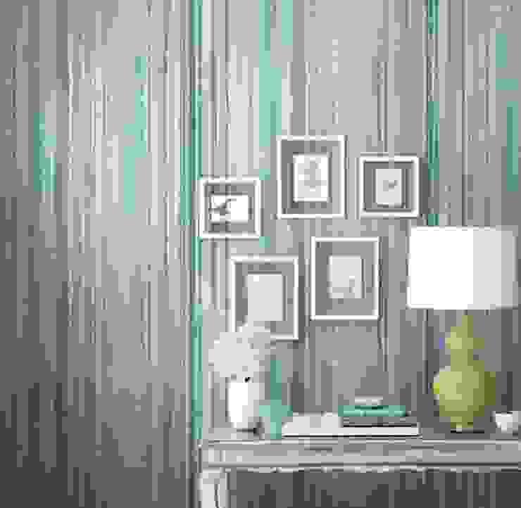 Watercolor Paredes y suelos de estilo moderno de Diseño Interior & Papel Tapiz Moderno Sintético Marrón