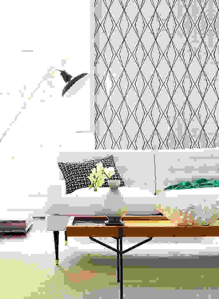 Facet Paredes y pisos de estilo moderno de Diseño Interior & Papel Tapiz Moderno Papel