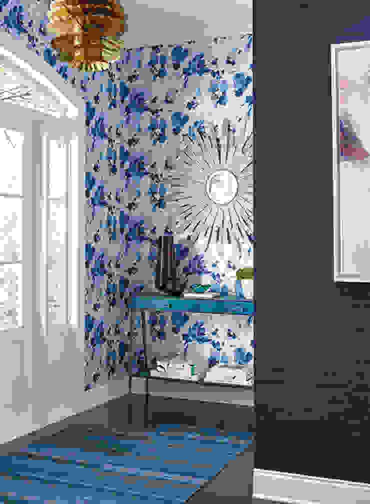 Aquarella Paredes y pisos de estilo moderno de Diseño Interior & Papel Tapiz Moderno Papel