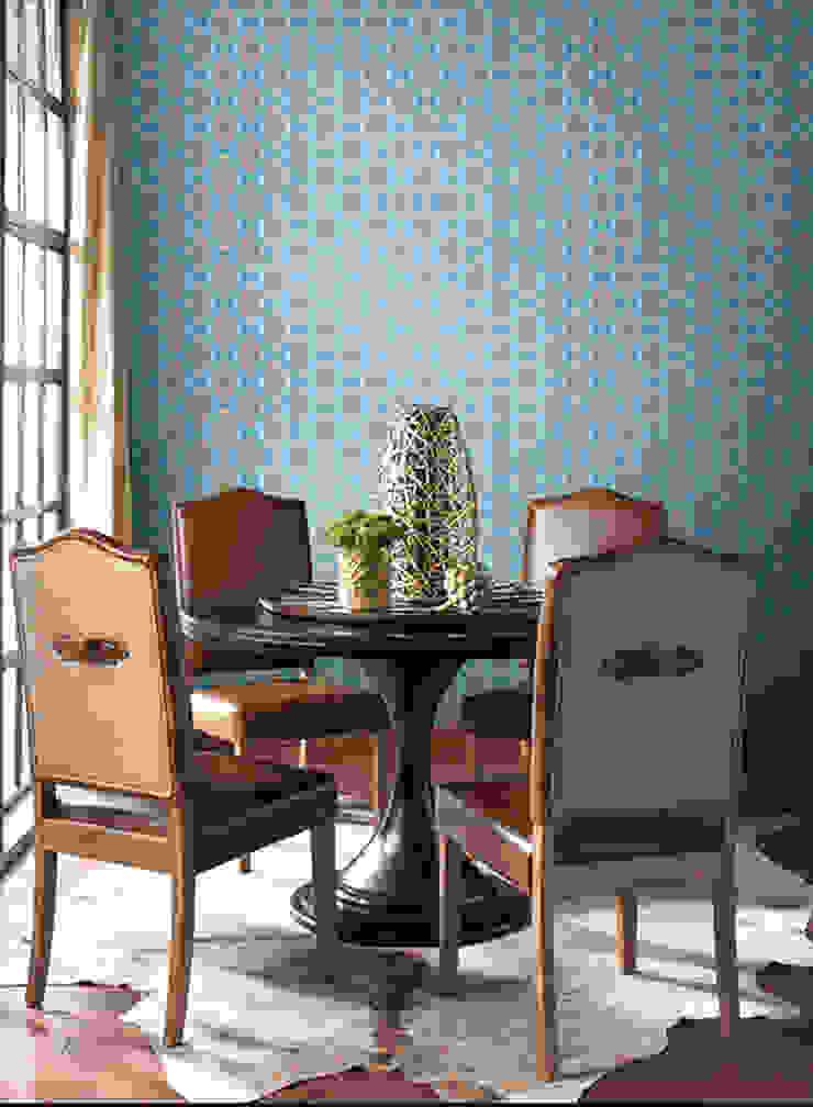 Geo Ombre Paredes y pisos de estilo moderno de Diseño Interior & Papel Tapiz Moderno Sintético Marrón