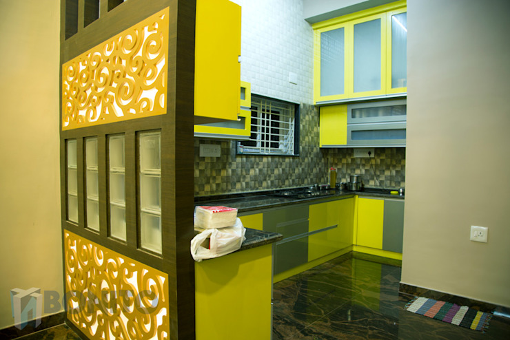 Kitchen partition design Asian style kitchen by homify Asian