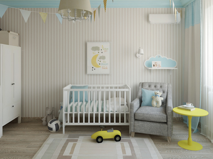 Яркая квартира Детские комната в эклектичном стиле от Olesya Parkhomenko Эклектичный