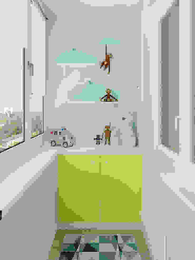 Яркая квартира Балконы и веранды в эклектичном стиле от Olesya Parkhomenko Эклектичный