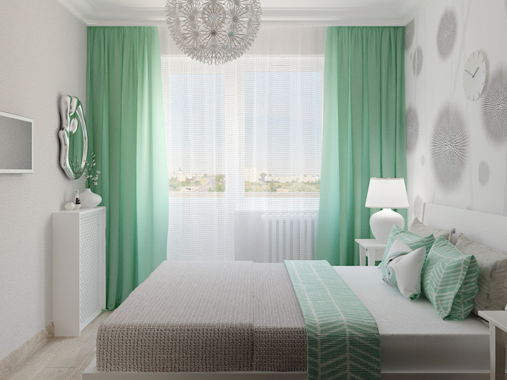 Яркая квартира Спальня в скандинавском стиле от Olesya Parkhomenko Скандинавский
