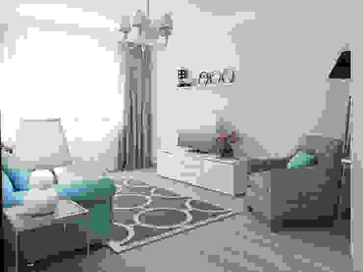 Яркая квартира Гостиные в эклектичном стиле от Olesya Parkhomenko Эклектичный