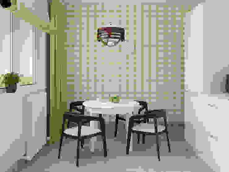 Яркая квартира Кухня в скандинавском стиле от Olesya Parkhomenko Скандинавский
