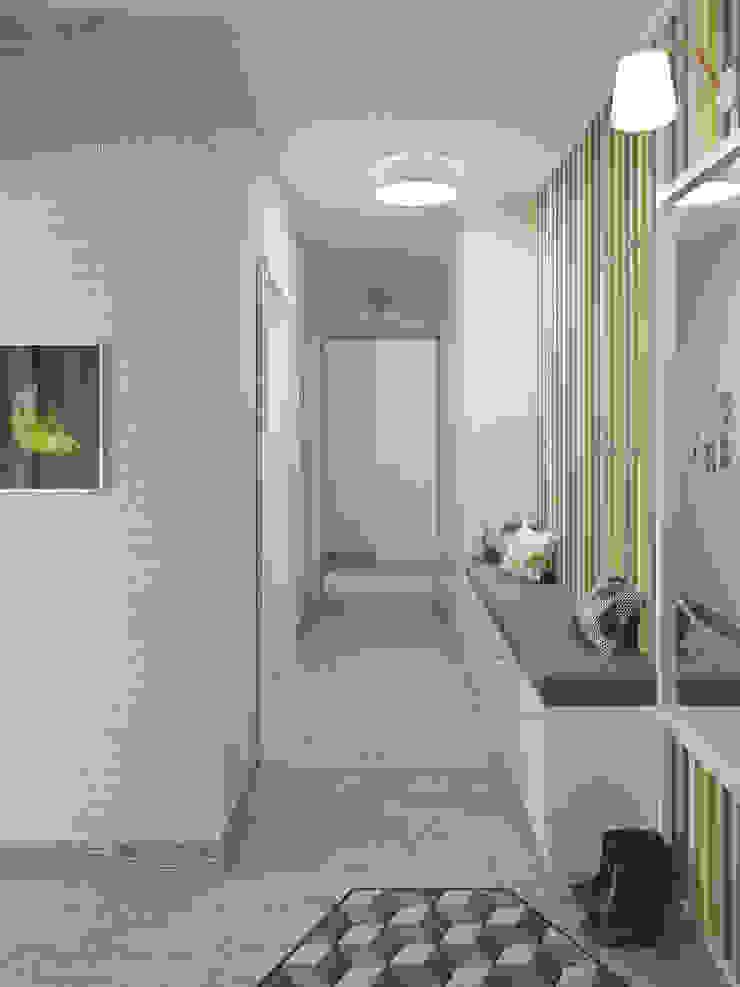 Прихожая Коридор, прихожая и лестница в модерн стиле от Olesya Parkhomenko Модерн