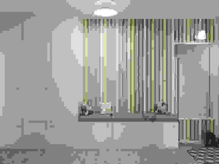 Яркая квартира Коридор, прихожая и лестница в модерн стиле от Olesya Parkhomenko Модерн