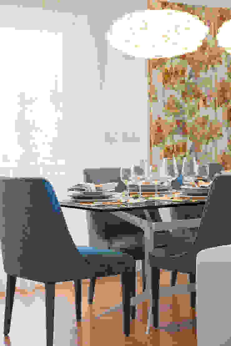Sala Comum_pormenor da zona de jantar Salas de jantar modernas por Traço Magenta - Design de Interiores Moderno