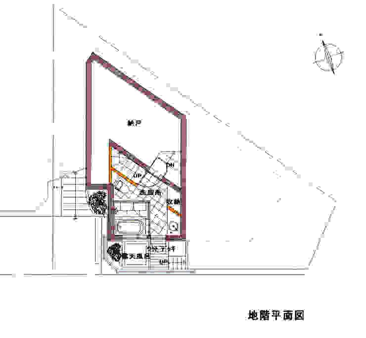 B1F PLAN: 豊田空間デザイン室 一級建築士事務所が手掛けた折衷的なです。,オリジナル