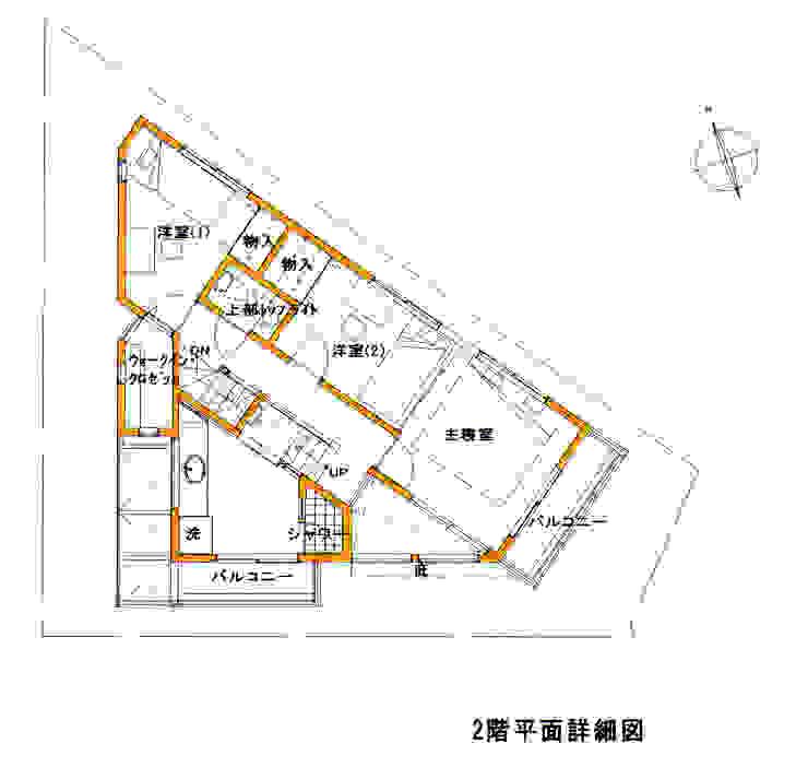 2F PLAN: 豊田空間デザイン室 一級建築士事務所が手掛けた折衷的なです。,オリジナル