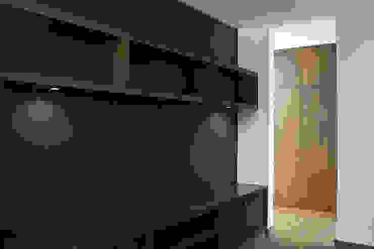 Narda Davila arquitectura Modern media room Wood Wood effect