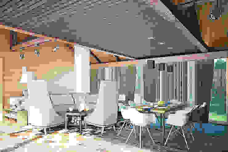Rustic style balcony, veranda & terrace by AG design Rustic Wood Wood effect