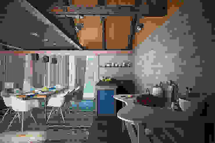 Balcon, Veranda & Terrasse rustiques par AG design Rustique Pierre