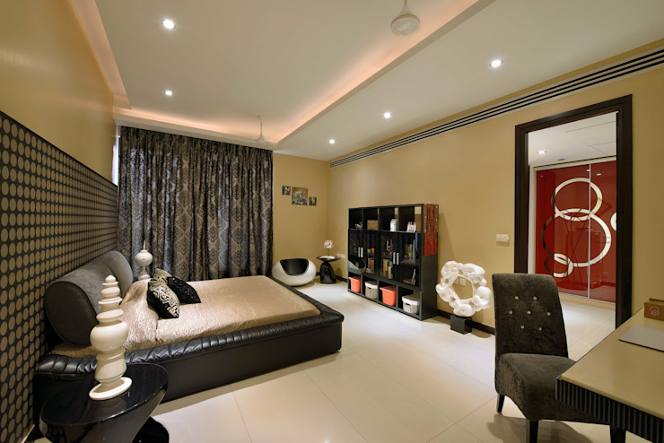 Residence Design, Rosewood City H5 Interior Design Modern style bedroom Black