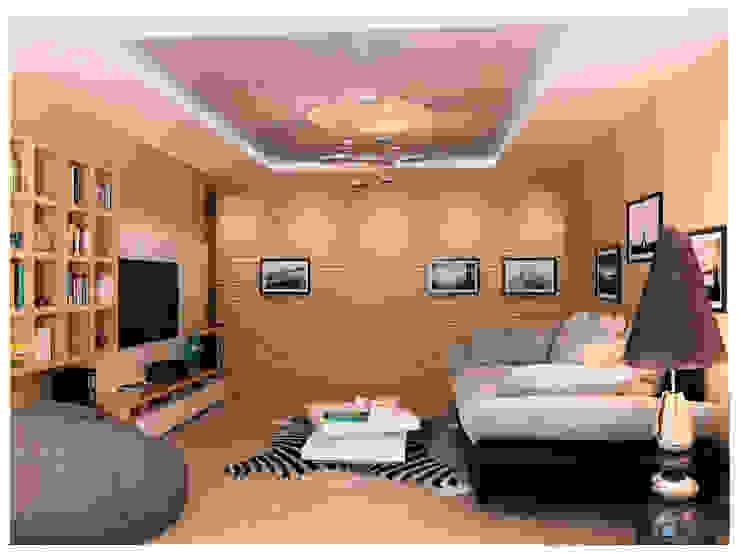 Minimalist living room by AG design Minimalist Chipboard