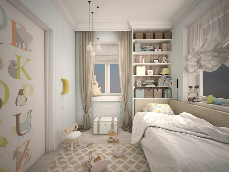 квартира в ЖК Garden Park Эдальго: Детские комнаты в . Автор – AG design,